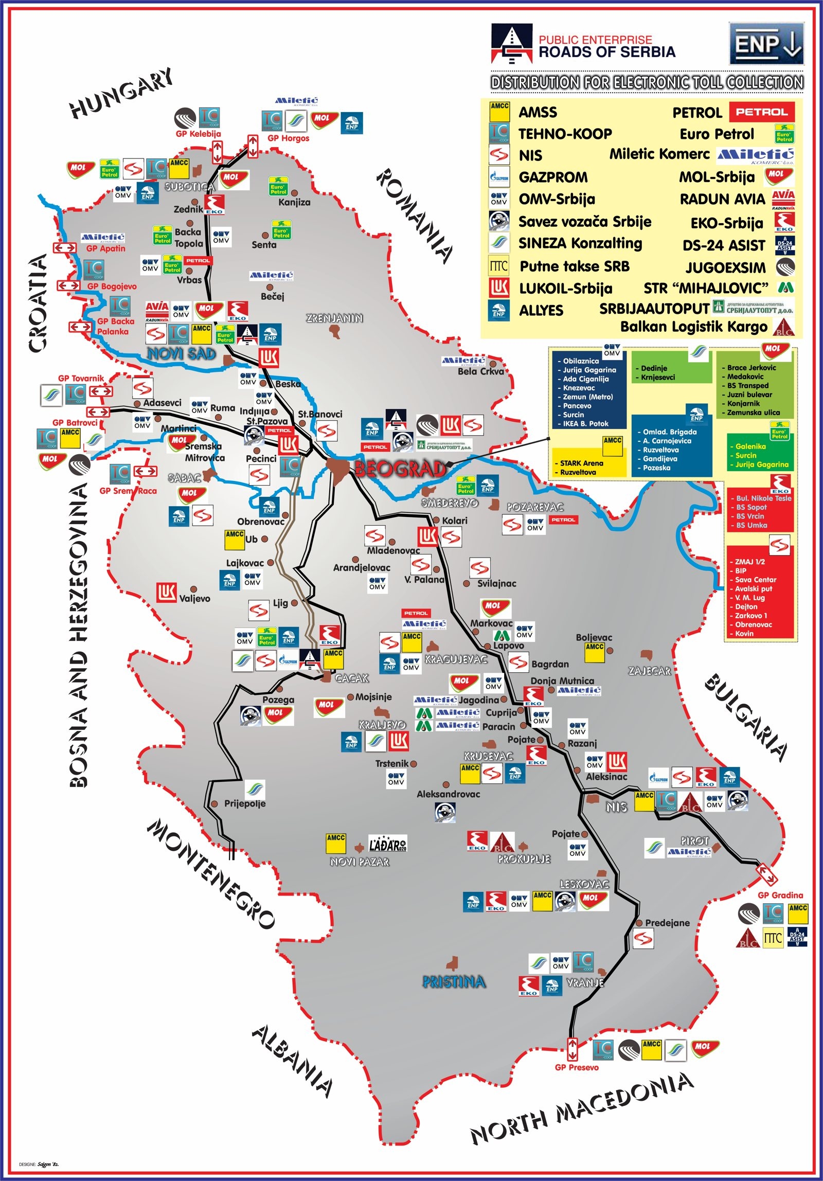 amss mapa srbije Authorized distributors   PE