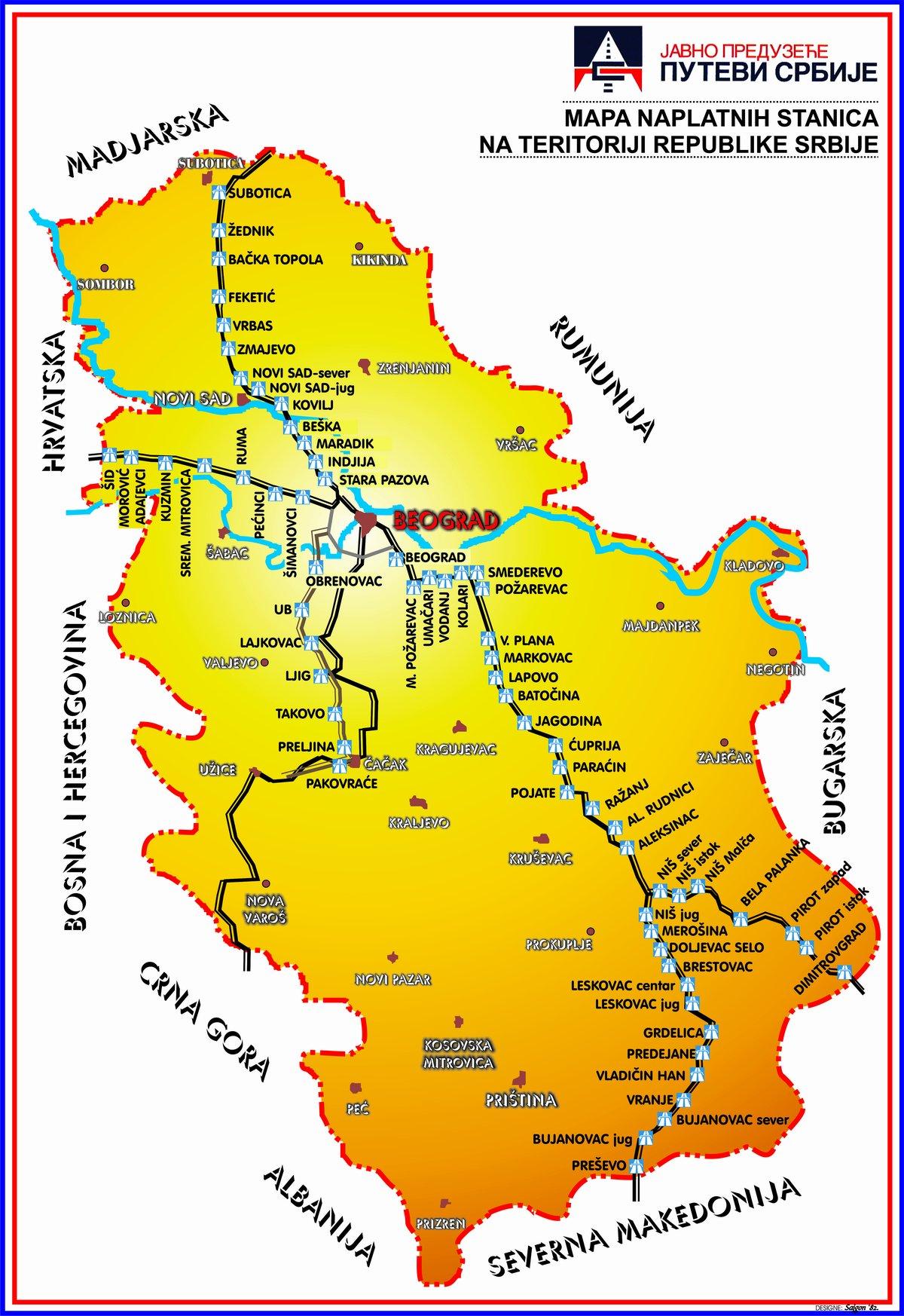 jagodina karta srbije Road toll   PE