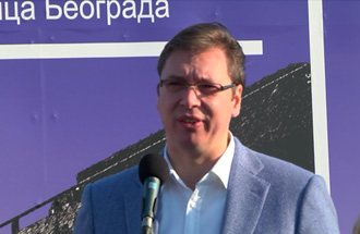 Izjava Statement of Aleksandar Vučić on the occasion of laying the foundation stone for the new bridge over the river Sava at Ostružnica