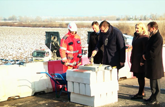 Laying of the foundation stone for the new bridge over the river Sava at Ostružnica, cover