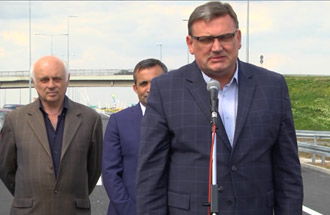 Zoran Drobnjak, Acting Director PERS - statement on the occasion of opening Belgrade Bypass for traffic