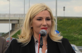 проф. др Зорана Михајловић, министарска саобраћаја - изјава поводом отварања за саобраћај Обилазнице око Београда