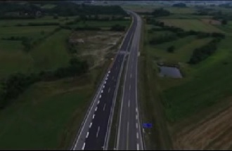 Пуштање у саобраћај деонице ауто-пута Крагујевац-Баточина - снимци из ваздуха