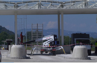 Construction of new toll station Preljina on Corridor 11