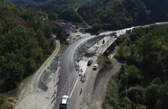 Works on bridge over Jablanički stream on road Raška-Novi Pazar