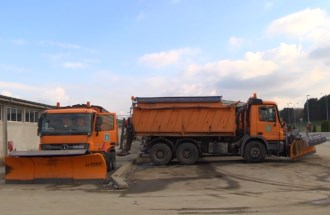 Vehicles for winter maintenance, maintenance point Mali Požarevac