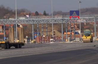"""Construction of new front toll station """"Belgrade"""" near Vrčin"""