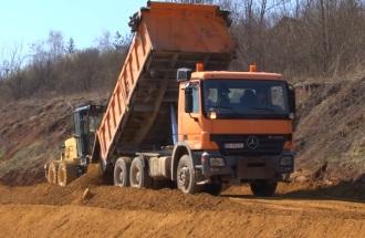Izgradnja auto puta Kragujevac-Batočina, pokrivalica