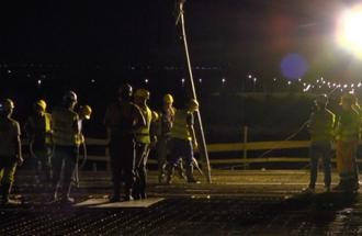 Betoniranje 4 polja konstrukcije mosta preko Save kod Ostružnice, pokrivalica