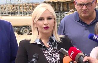 Obilazak radova na deonici Srpska Kuća-Levosoje - izjava Zorana Mihajlović, potpredsednica Vlade (izvor MGSI)