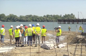 Visit of construction works on the new bridge over the Kolubara and Sava near Obrenovac - cover