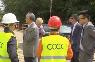 Obilazak radova na izgradnji novog mosta preko Kolubare i Save kod Obrenovca - pokrivalica