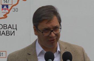 Statement of Aleksandar Vučić, the President of the Republic of Serbia - reconstructed road Žagubica - Krepoljin