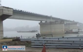 Obilazak radova na izgradnji mosta preko Save kod Ostružnice - pokrivalica