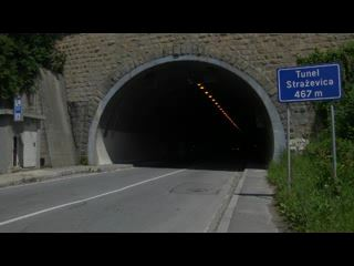ITS traffic control, tunnel Stara Straževica