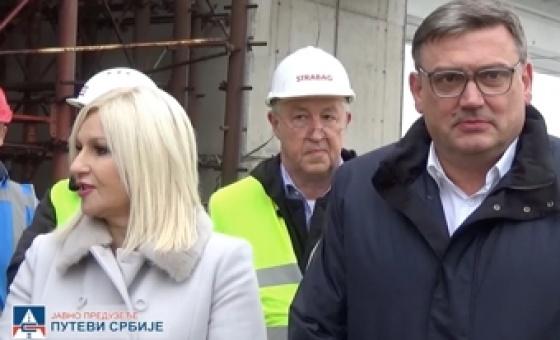 16.11.17. Works on construction of bridge over Sava River at Ostružnica