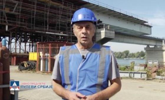 26.09.18. Works on construction of bridge over Sava River at Ostružnica